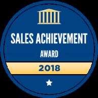 Chanele Langevin Mortgage Broker for Grande Prairie Mortgage Broker receives the 2018 Sales Acheivment Award from Dominion Lending Centres